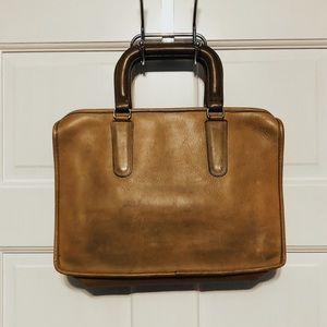 Vintage 70s Coach Bonnie Cashin Leather Briefcase